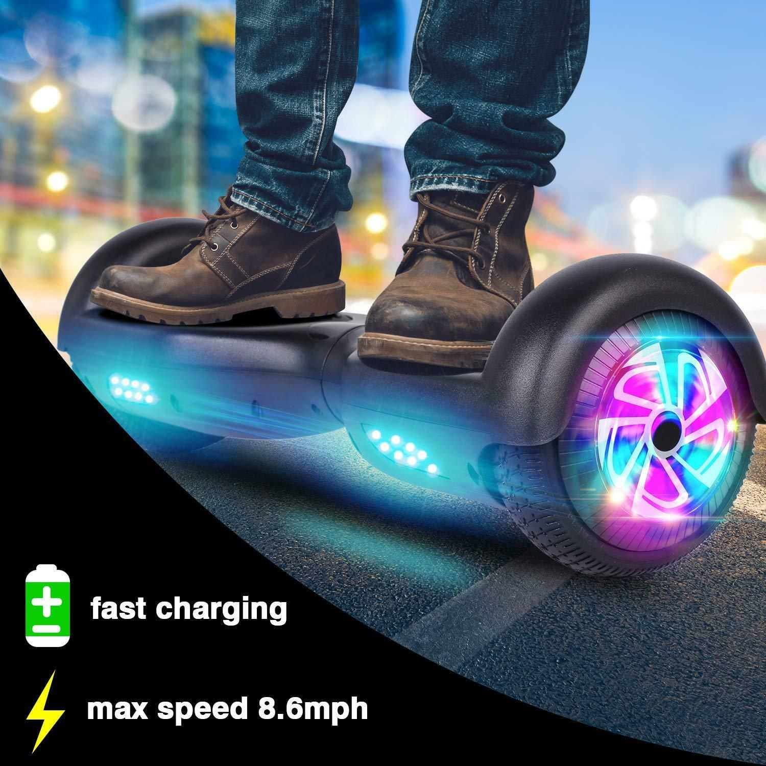 6-5-034-Electric-Hoverboard-Self-Balancing-LED-Scooter-UL-2272-Skateboard-Classic thumbnail 8