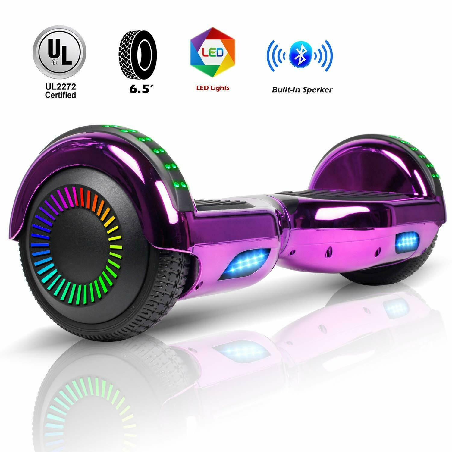 6-5-034-Electric-Hoverboard-Self-Balancing-LED-Scooter-UL-2272-Skateboard-Classic thumbnail 10