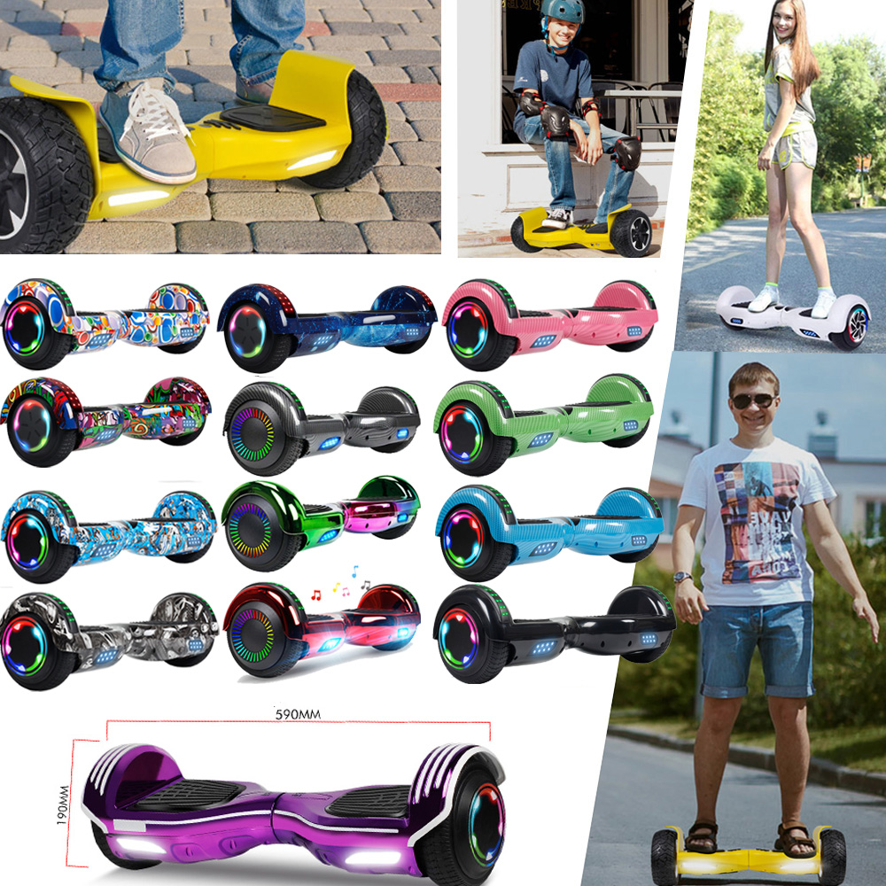 """6.5"""" Electric Hoverboard Self Balancing LED Scooter UL 2272"""