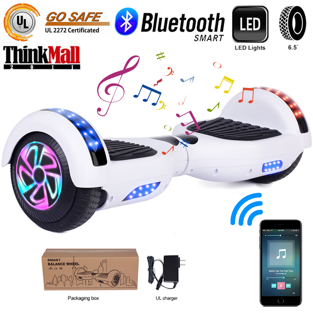 """6.5"""" Hoverboard UL 2272 LED Self Balancing Electric Scooter"""