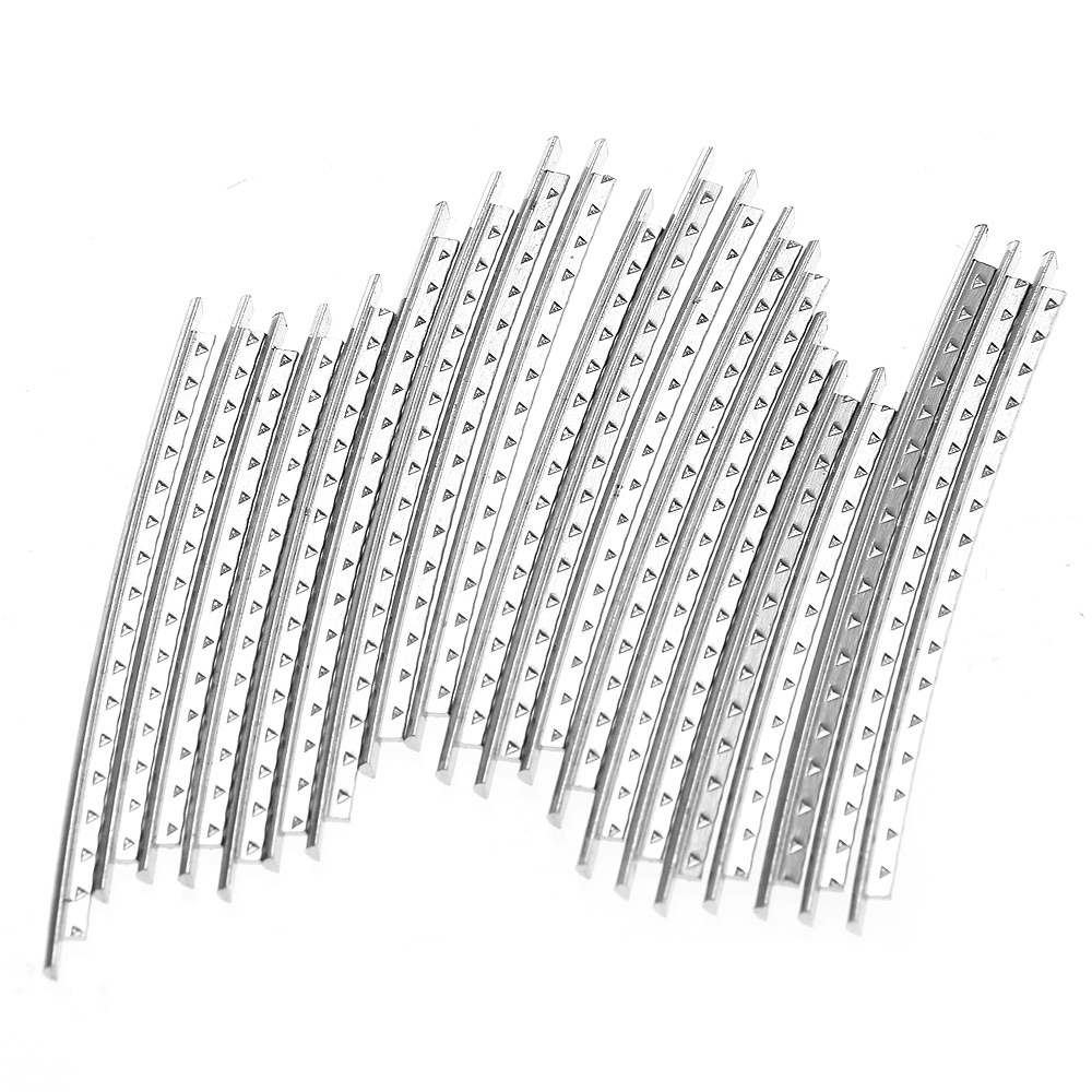 acoustic guitar fret wire fretwire set 20pieces copper width silver ebay. Black Bedroom Furniture Sets. Home Design Ideas