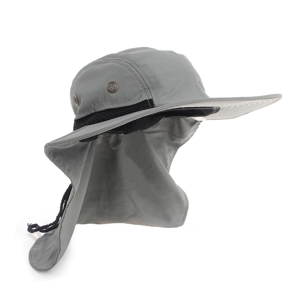 eb3adab8528e4 Boonie Hat Fishing Boating Hiking Snap Brim Ear Neck Cover Bucket Sun Flap  Cap