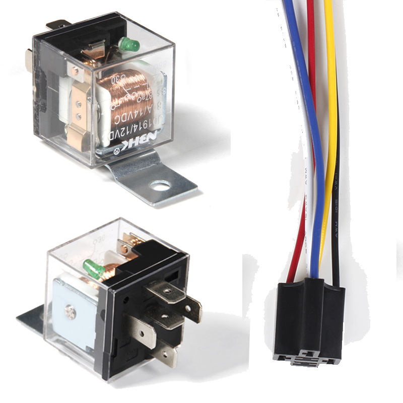 Pack Of 5 Auto Automotive Changeover Relay 40a 5pin 12v