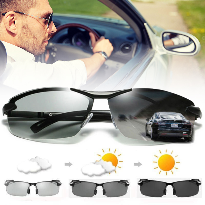 4b6413e5ef Details about Photochromic Polarized Sunglasses Goggles Glasses Transition  Lens Driving Sports