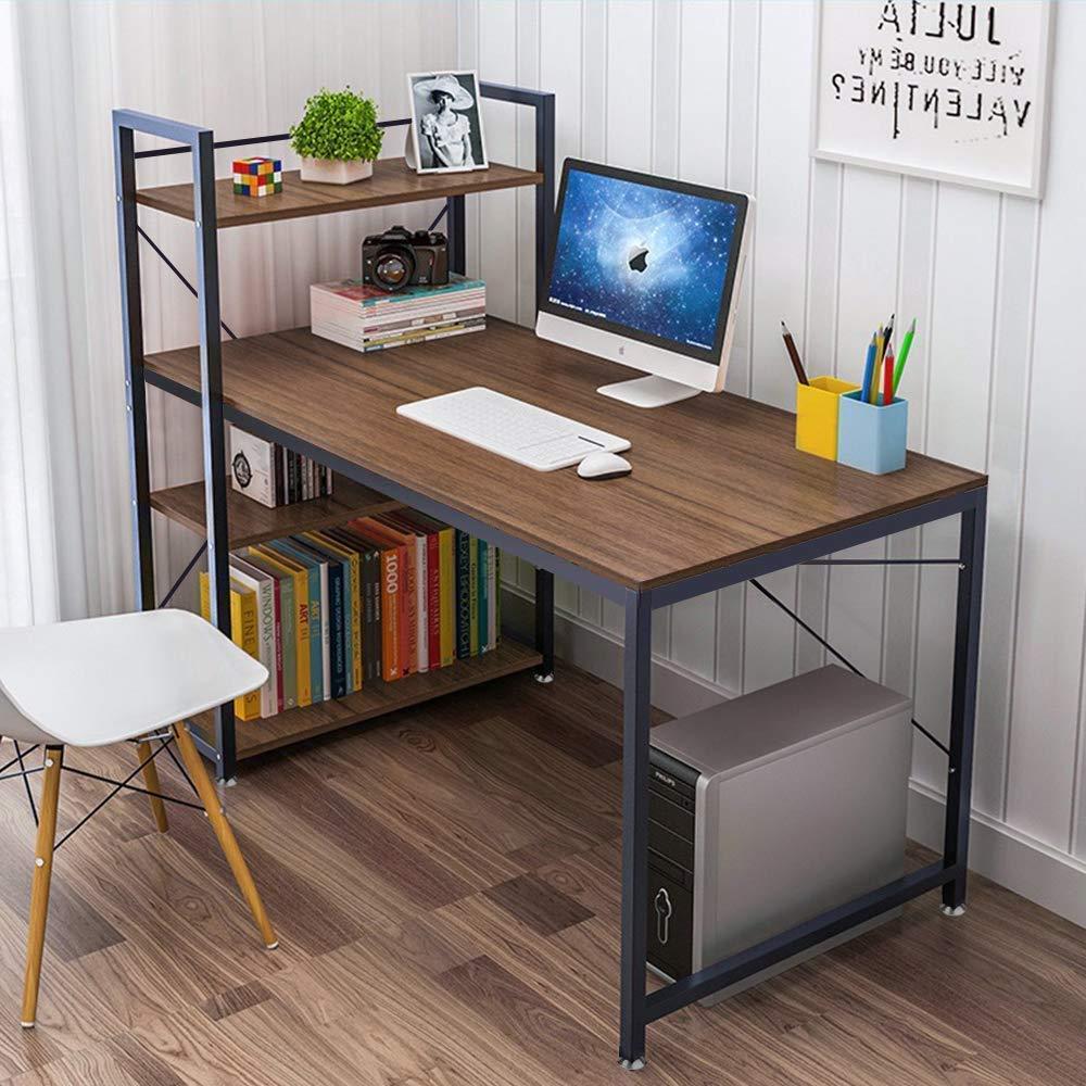 Wooden Corner Computer Desk Home Office PC Laptop Table H