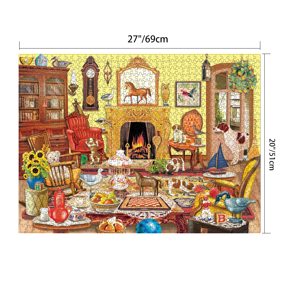 """1000 piece """"Livingroom Time"""" Jigsaw Puzzle Puzzles For ..."""