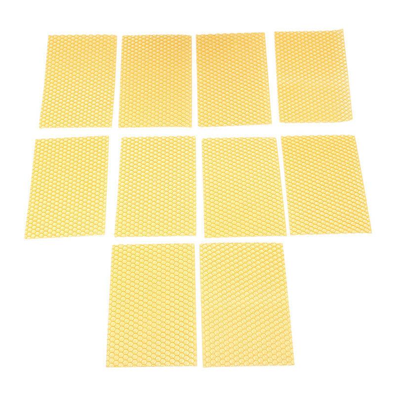 10Pcs Artificial Beeswax Honeycomb Wax Frame Beekeeping Honey Bee Hive Tool Hot