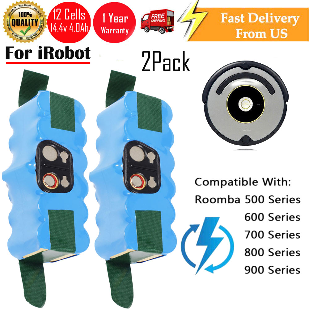 2x 14 4v vacuum ni mh battery for irobot roomba 500 530 570 580 550 rh ebay com