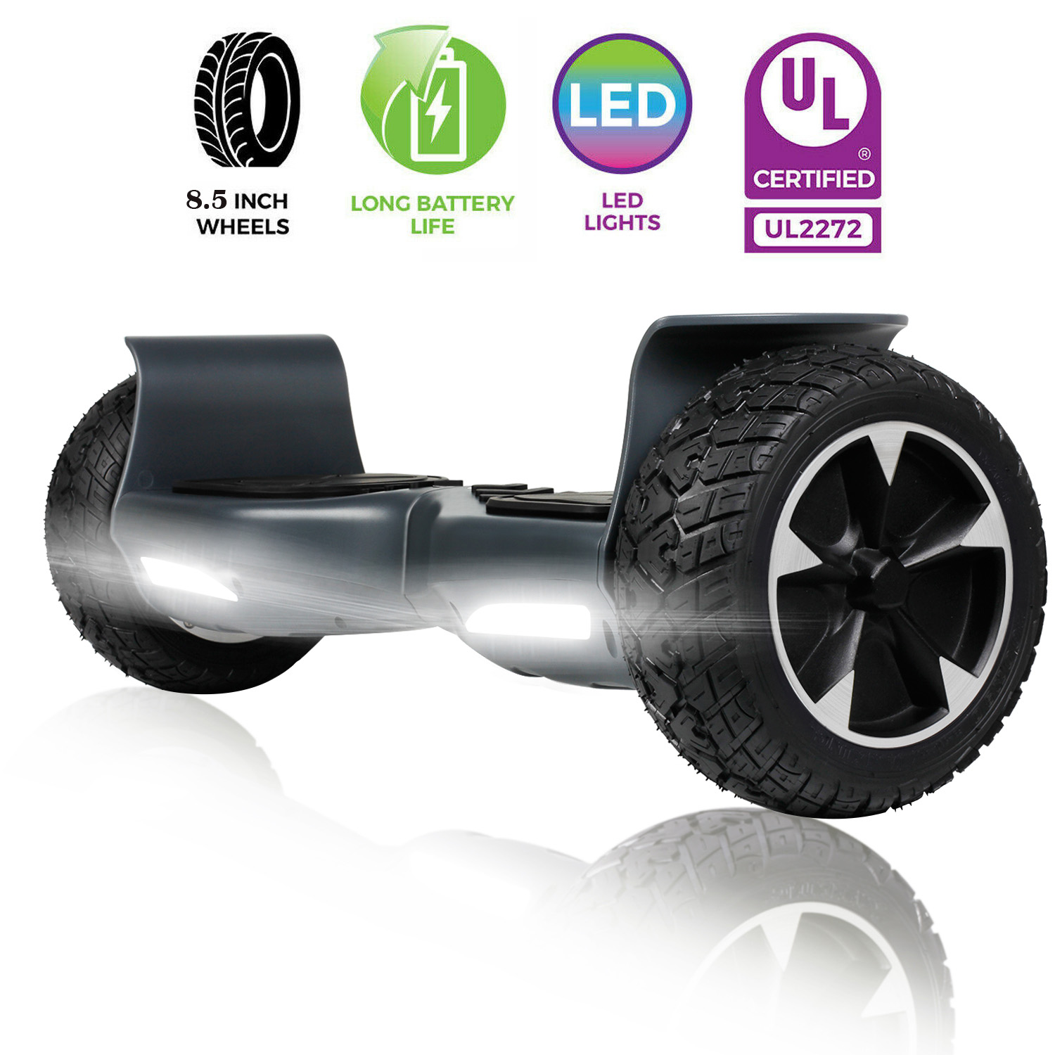 """8.5"""" Wheels Hummer Hoverboard Electric Balance Scooter no ba"""