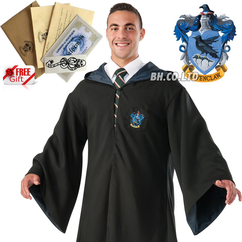 US-Harry-Potter-Hogwarts-Adult-Kids-Robe-Cloak-Scarf-Halloween-COS-Costumes-Gift thumbnail 19