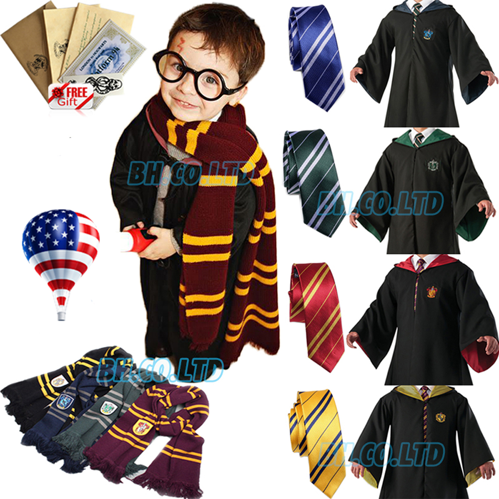 Harry Potter Gryffindor House Costume Sleep Bath Robe