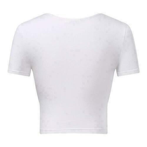 Womens-Summer-V-Neck-Short-Sleeve-Cross-Wrap-Shirts-Tank-Top-Blouse-Shirt thumbnail 11