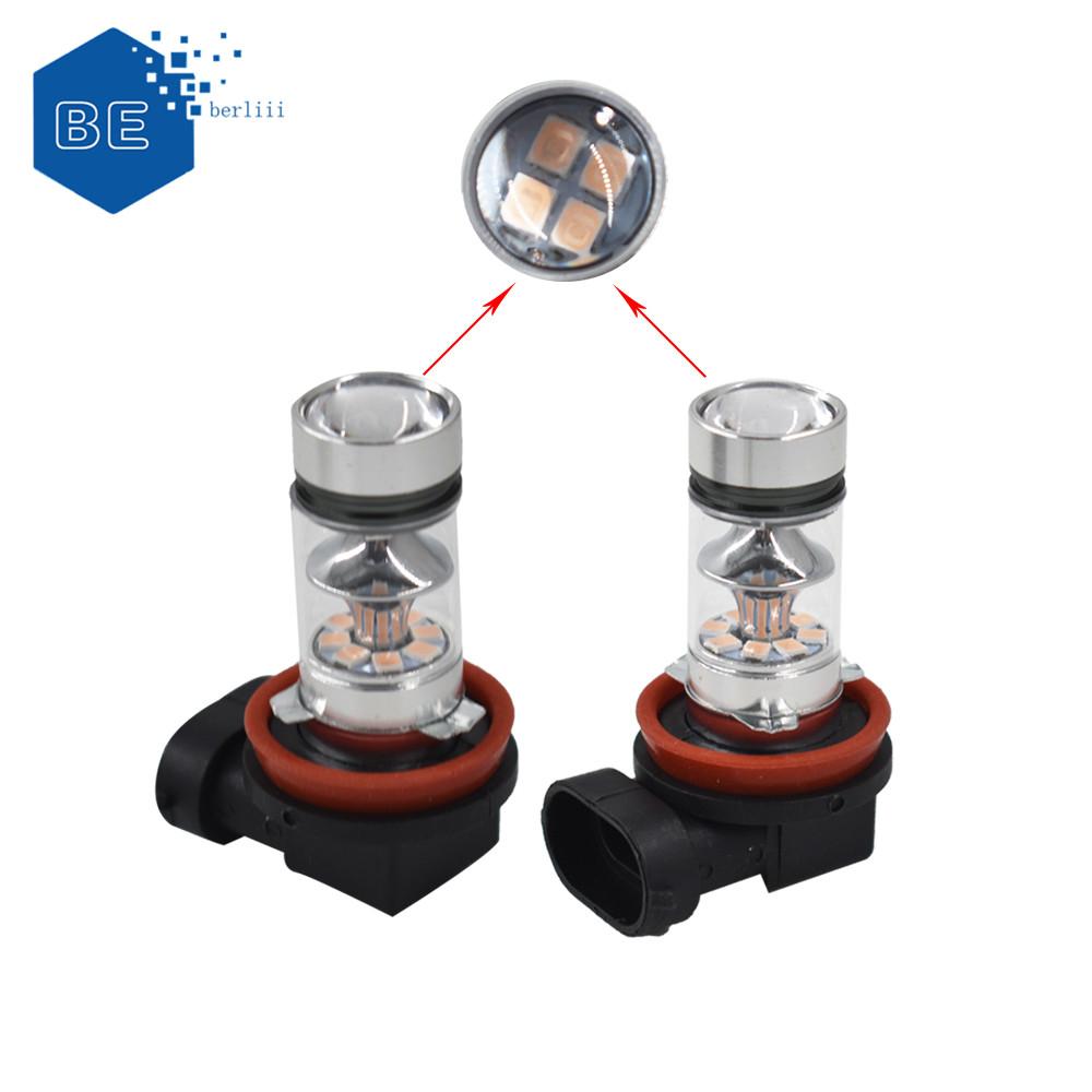 2x H8 H9 H11 H16 10000K Deep Blue Fog Light 100W LED Headlight Bulb Kit