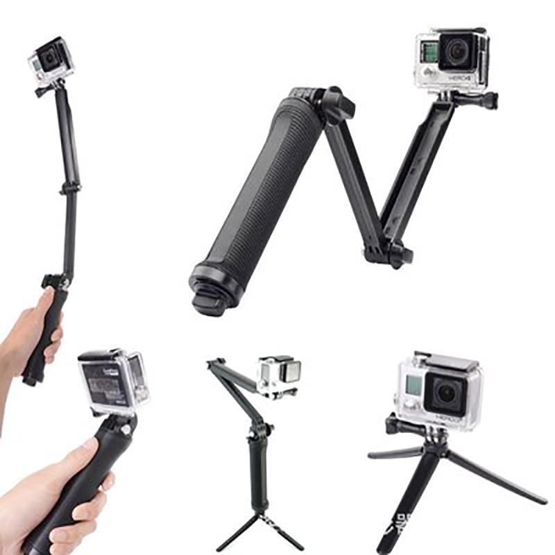 Selfie Hand Grip 3-Way Monopod Tripod Mount Bracket For Gopro Hero 5 4 3+ 3  Top 9b4cfb8c466