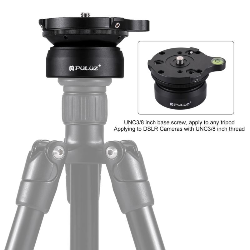 Camera Tripod Head Adapter 3//8 inch Thread Dome Professional Tripod Leveling Head Base with Bubble Level