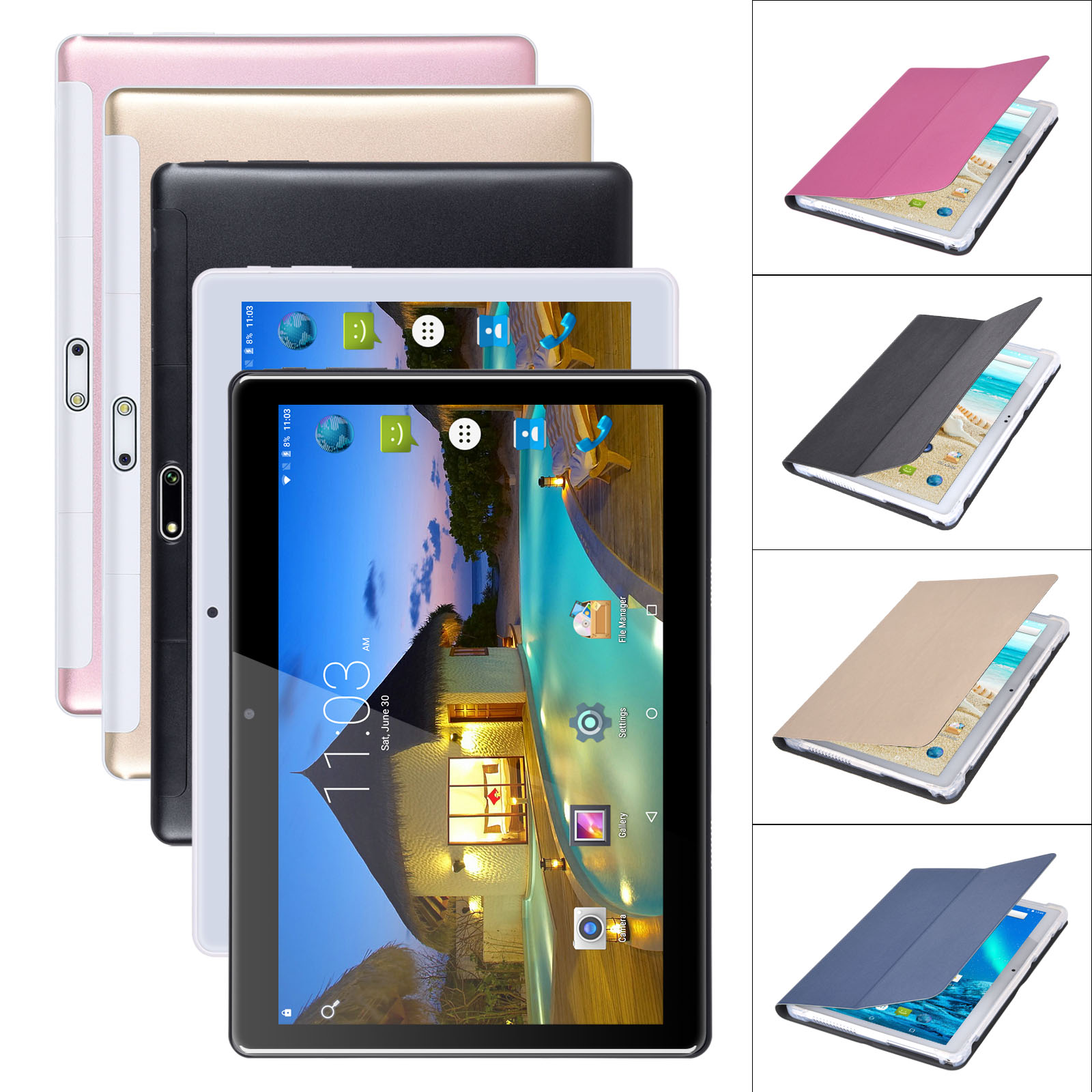 XGODY New 10.1 INCH 1+16GB Tablet PC 4-Core Android 7.0 Unlo