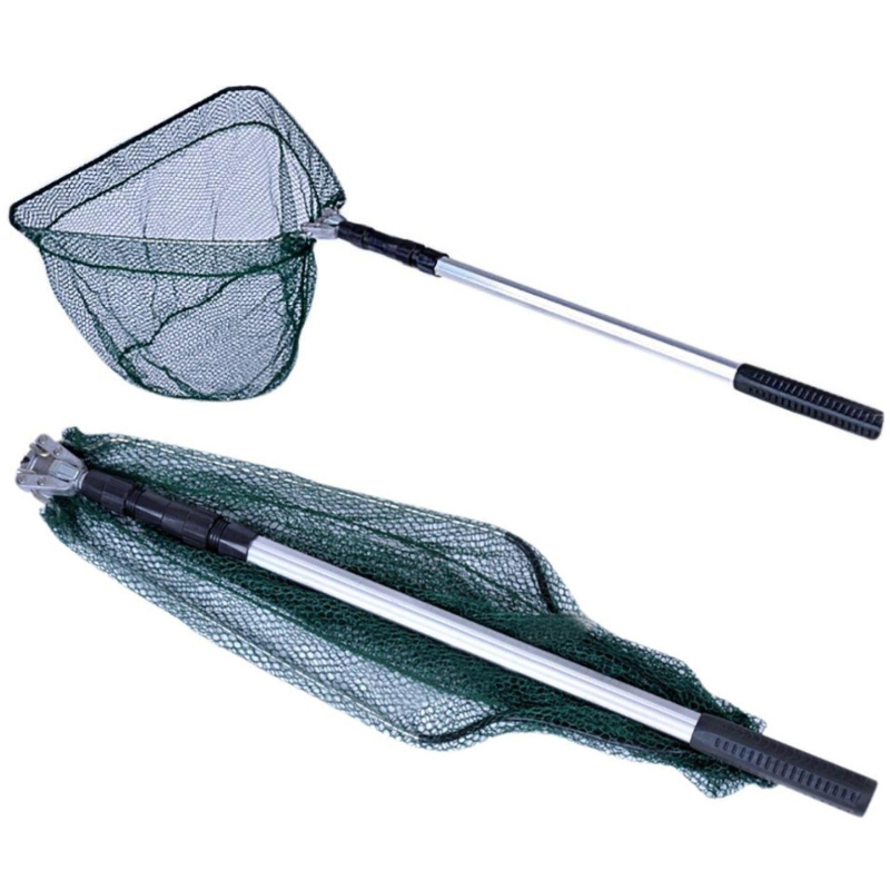 Saltwater-Bait-Fishing-Cast-Net-Mesh-Telescopic-Folding-Extending-Landing-Net thumbnail 19