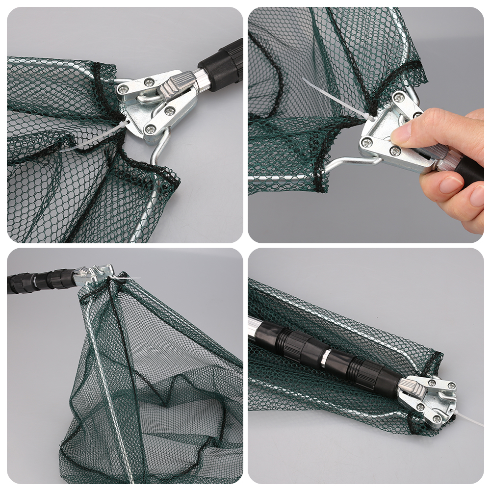 Saltwater-Bait-Fishing-Cast-Net-Mesh-Telescopic-Folding-Extending-Landing-Net thumbnail 24