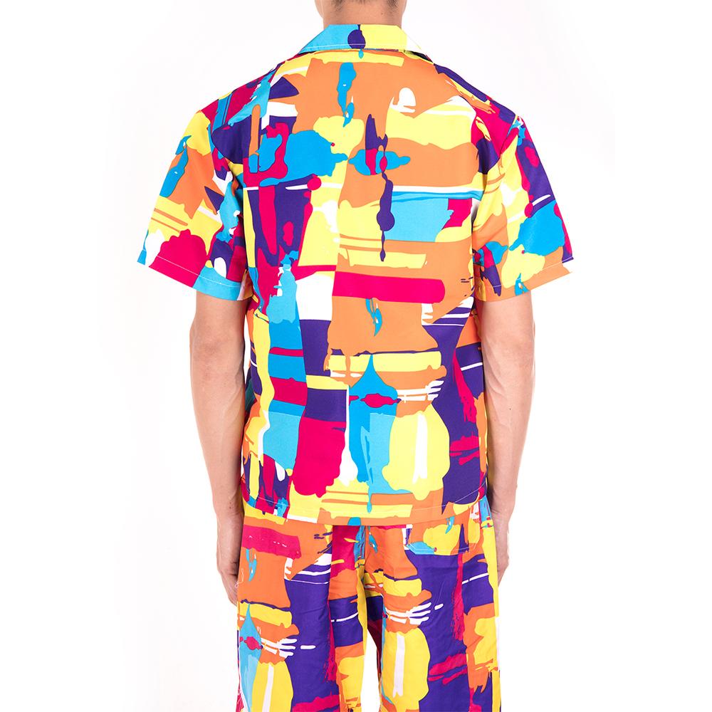 Men-Short-Sleeve-Shirt-Beach-T-shirt-Holiday-Summer-Hawaiian-Casual-Slim-Fit-Top thumbnail 18