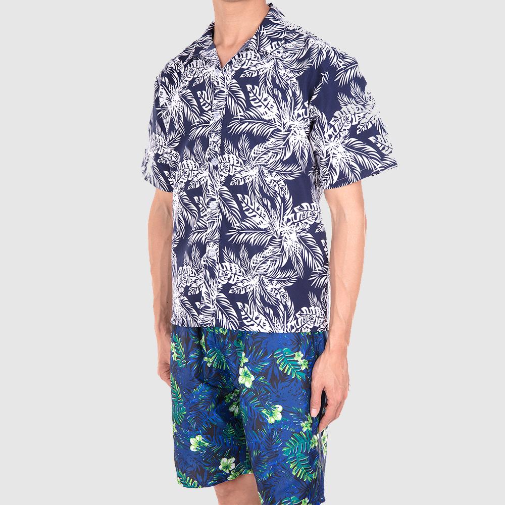 Men-Short-Sleeve-Shirt-Beach-T-shirt-Holiday-Summer-Hawaiian-Casual-Slim-Fit-Top thumbnail 6