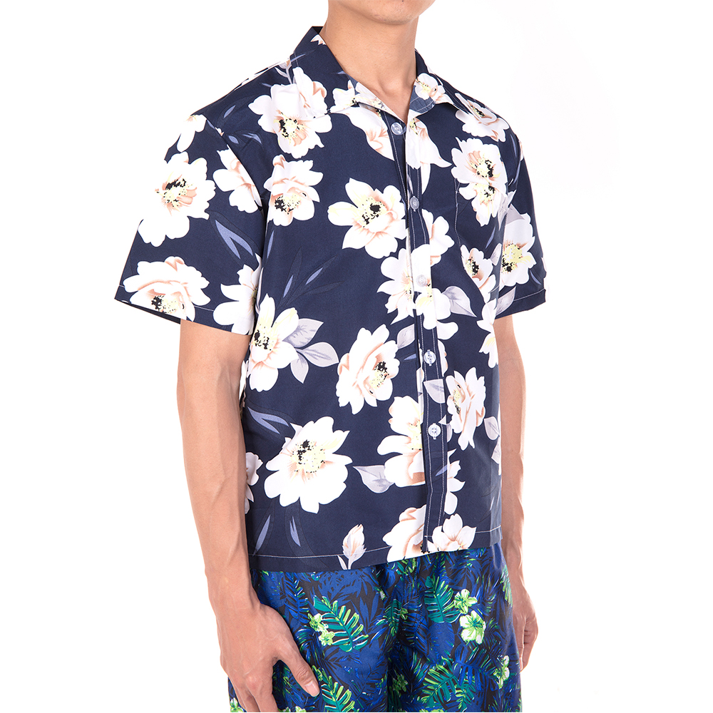 Men-Short-Sleeve-Shirt-Beach-T-shirt-Holiday-Summer-Hawaiian-Casual-Slim-Fit-Top thumbnail 12