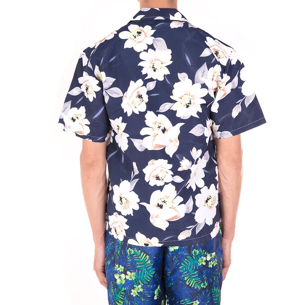 Men-Short-Sleeve-Shirt-Beach-T-shirt-Holiday-Summer-Hawaiian-Casual-Slim-Fit-Top thumbnail 13