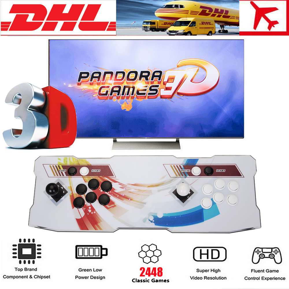 Pandora-Box-3D-2448-Games-in-1-Retro-Video-Games-2-player-Arcade-Console-Support