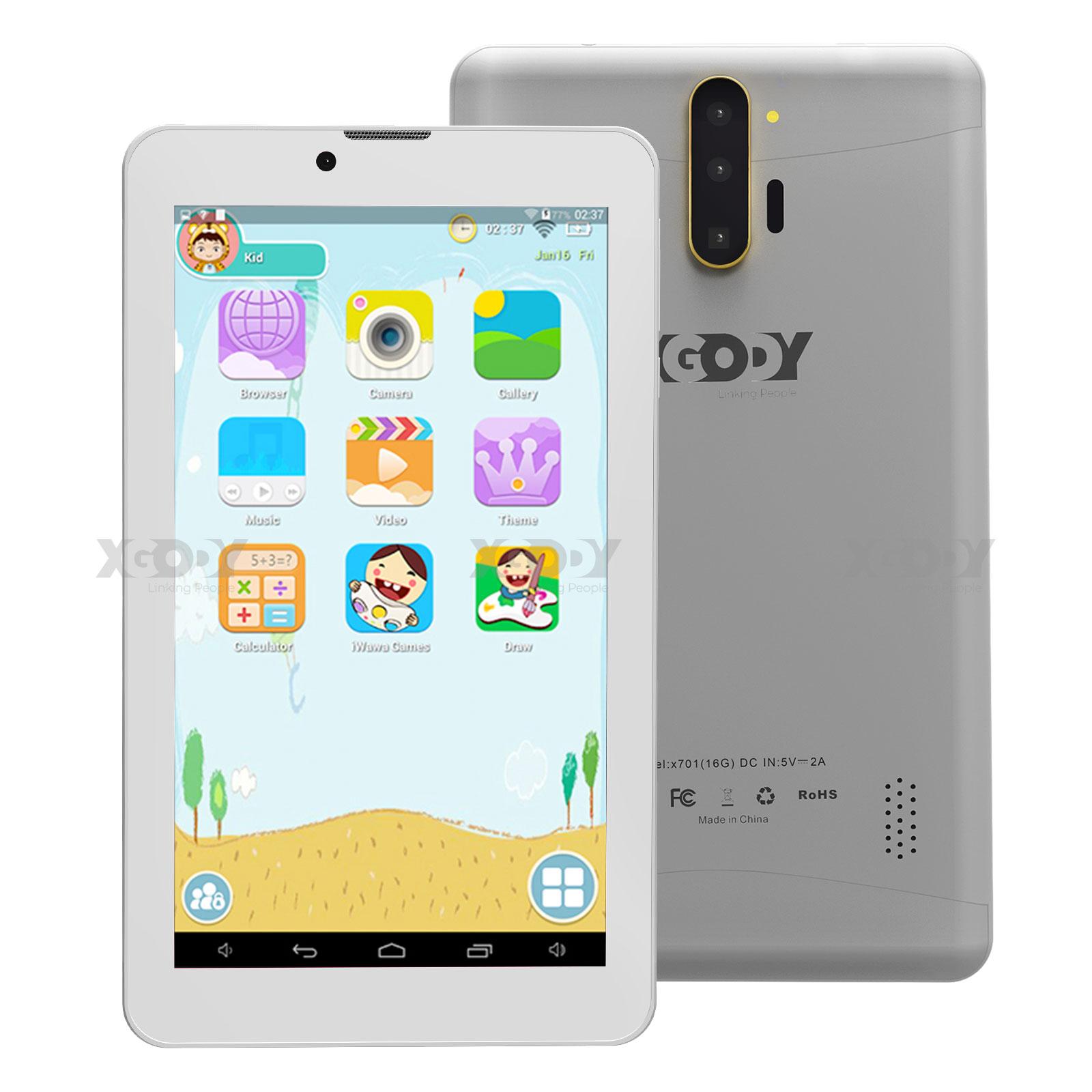 """XGODY Android Quad-core 7.0 Dual SIM 16GB/32GB WiFi+3G 7"""" Ta"""
