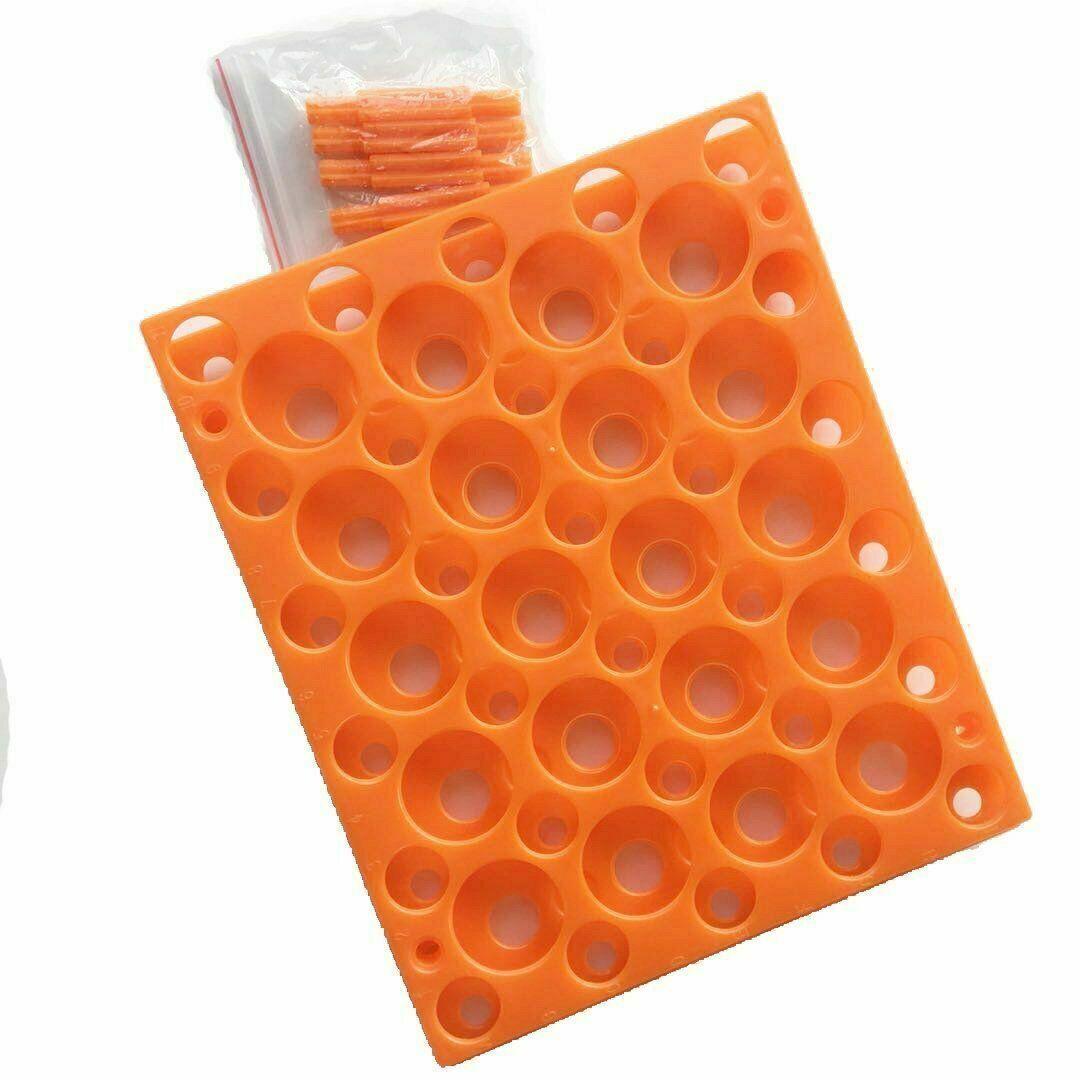 Reinforced Plastic Tube Rack for 10/15/50ml Conical Centrifuge Tubes Test Tubes 7
