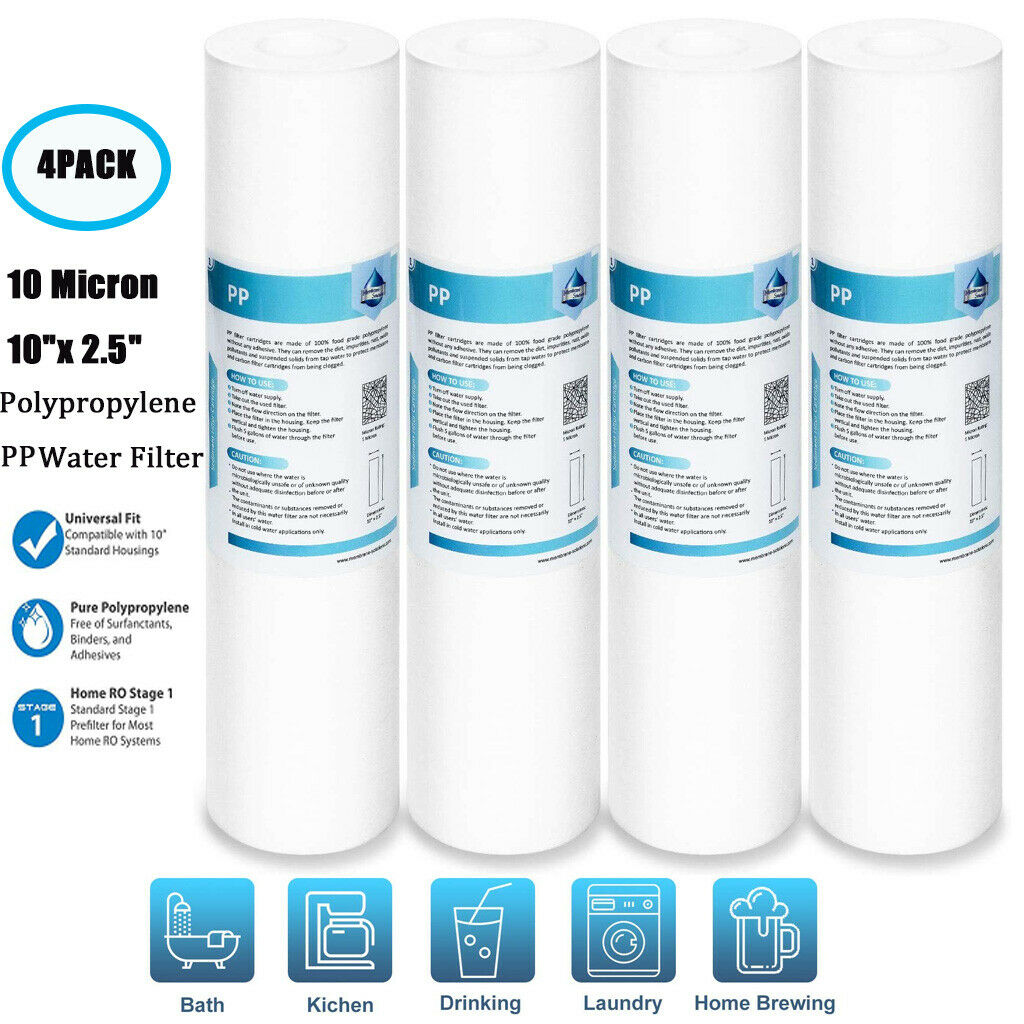 3 x 1 micron sediment filter string-wound 10,water filter,Reverse osmosis★Make sure to checkout with minerals-water to get whats on the picture★