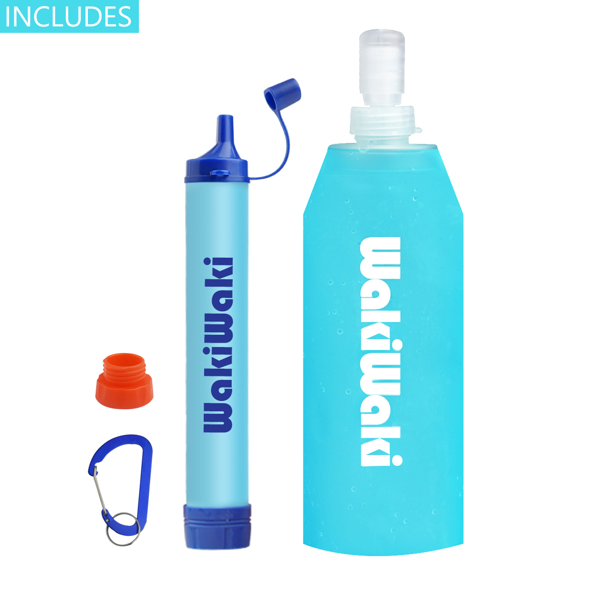 CASE Portable Personal Purifier Water Filter Straw Outdoor Survival 10-PACK