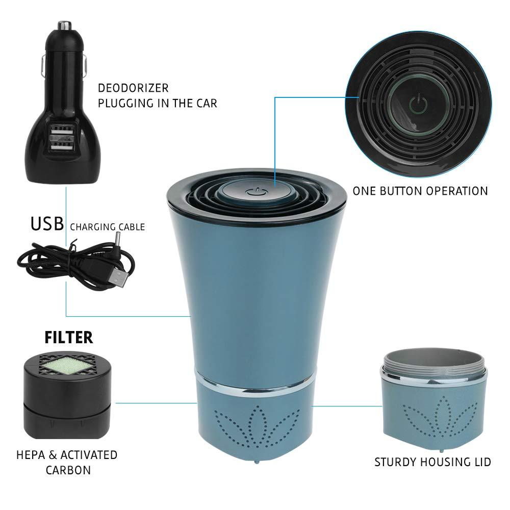 HC3 Air Freshener Car Purifier Home Car Deodorizer USB Hepa Filter ...