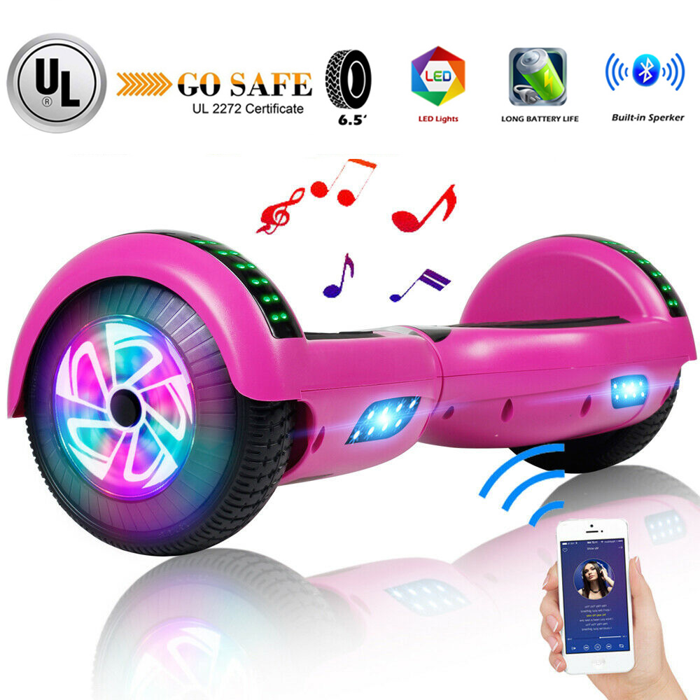 bluetooth hoverboard electric balancing scooter w led