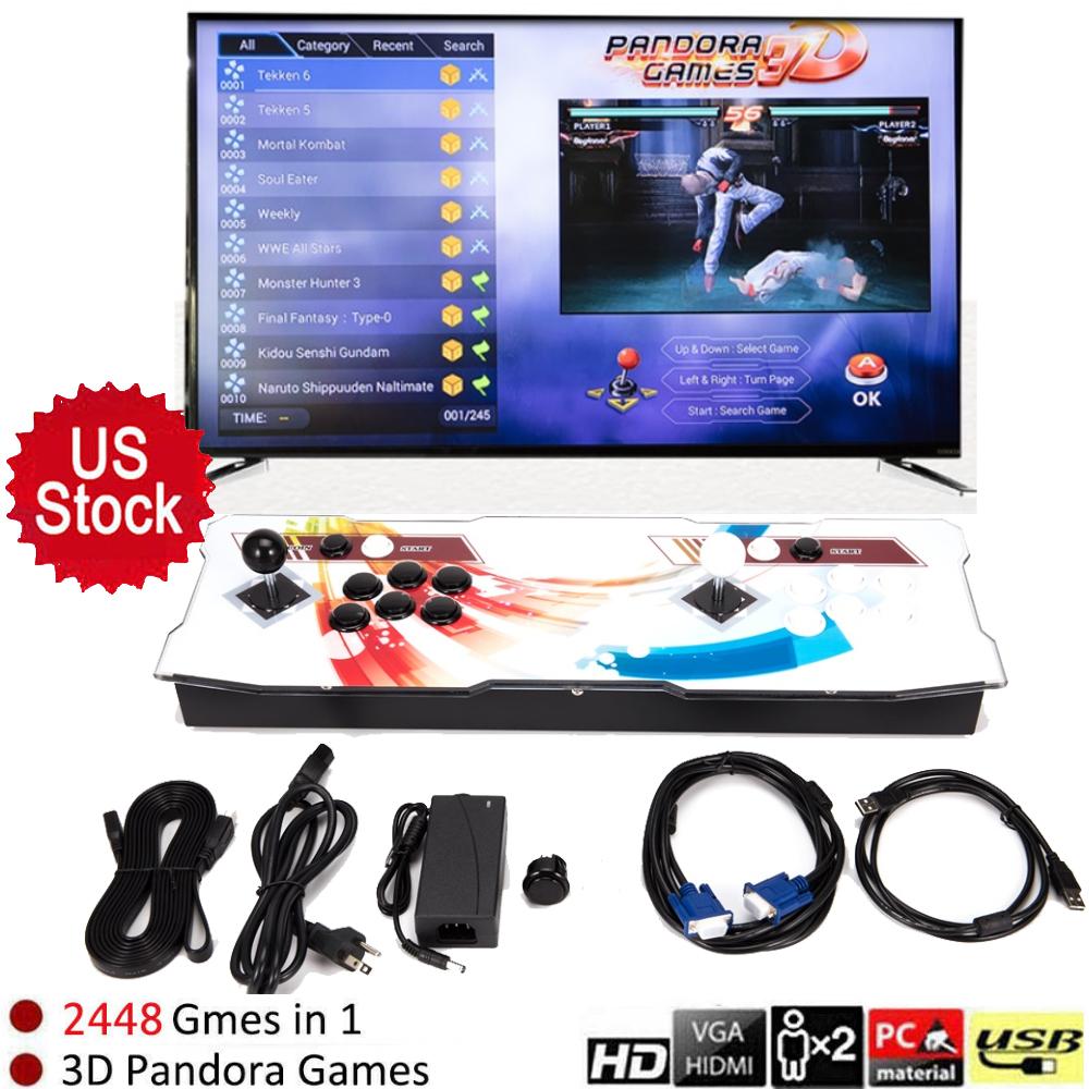 US Pandora's Box 3D Plus 2448 in 1 Video Game Retro Arcade C