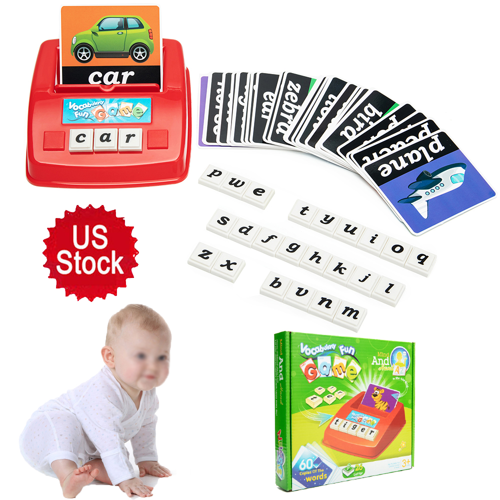 US STOCK Fashion Kids Spelling Toy Game Baby Early ...