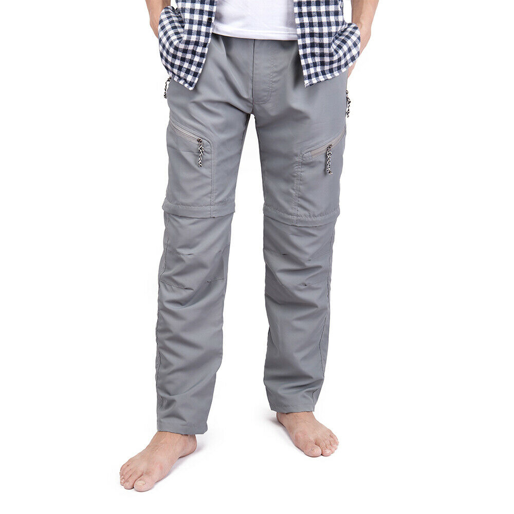 US-MENS-CONVERTIBLE-PANTS-QUICK-DRY-ZIP-OFF-SHORTS-OUTDOOR-HIKING-TROUSERS-S-3XL thumbnail 11